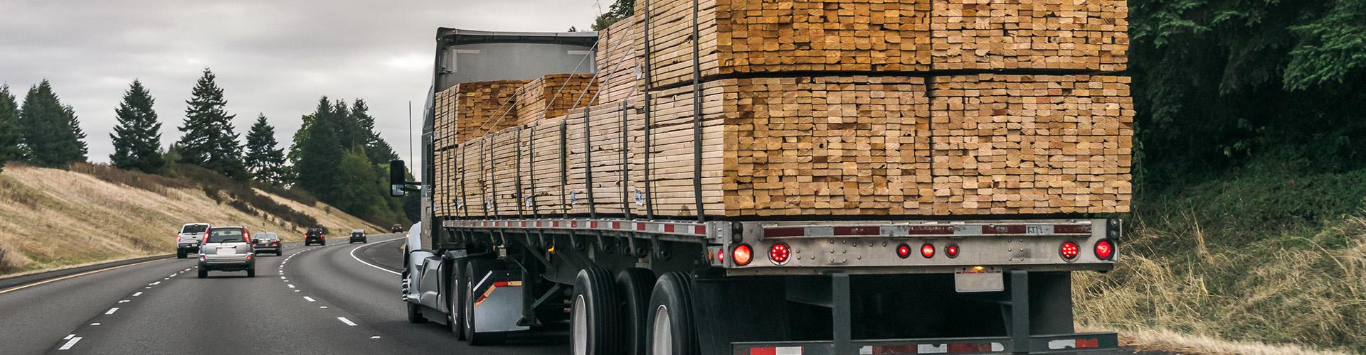 Lumber Insurance 18 Wheeler Banner
